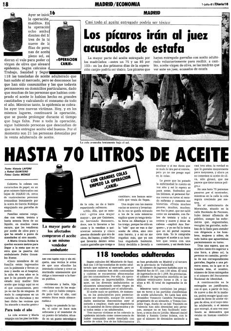 DIARIO 16, ediciones del 1 y 2 de julio de 1981.